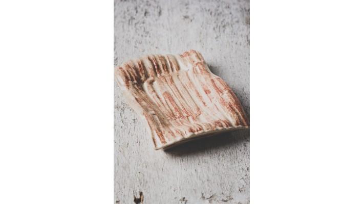 Porte-savons Classique Impression cannelle couleur spiced cream argile pâle