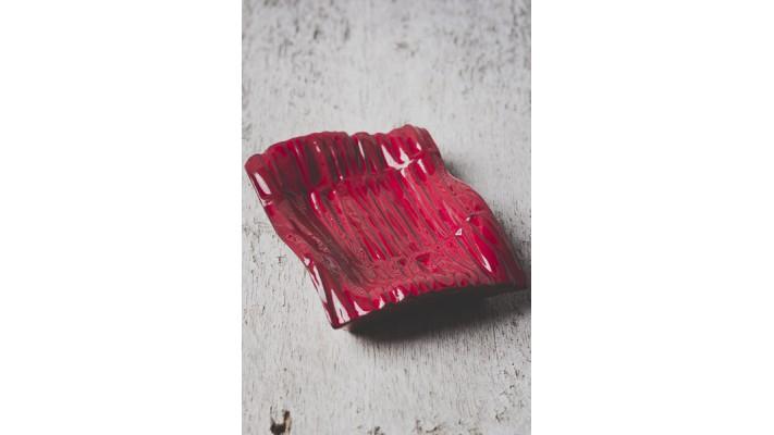 Porte-savons Classique Impression cannelle couleur rouge argile pâle